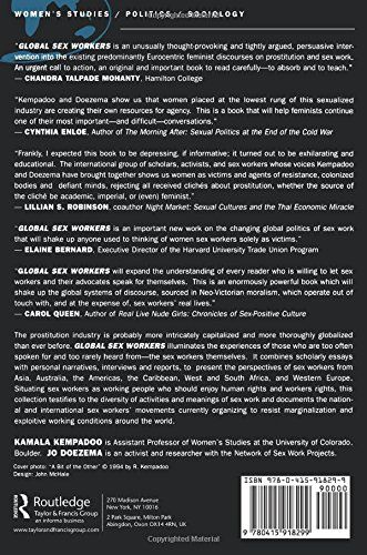 Global Sex Workers: Rights, Resistance, and Redefinition (Oxford Historical Monographs) - back